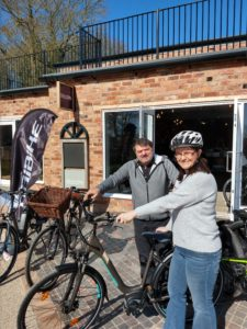 Karl Haden, Amanda Chalmers, The Electric Bike Shop