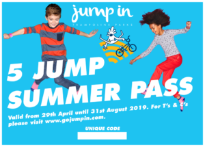 Jump In Warwick, Summer Pass