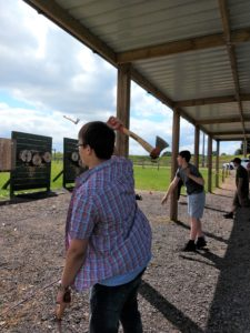 Adventure Sports Warwick, axe-throwing