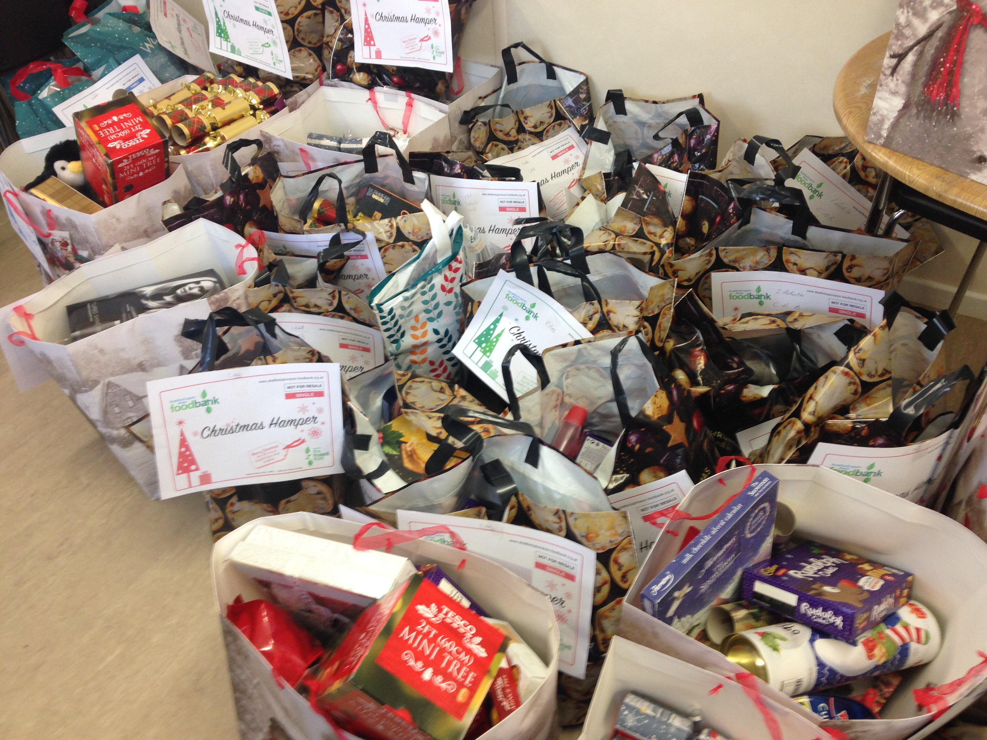 Stratford Food Bank hampers