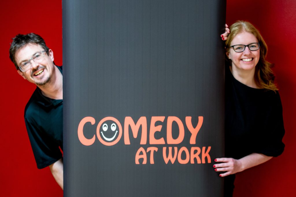 Comedy at Work, Anne Docherty, Mark Hinds, children's comedy workshops
