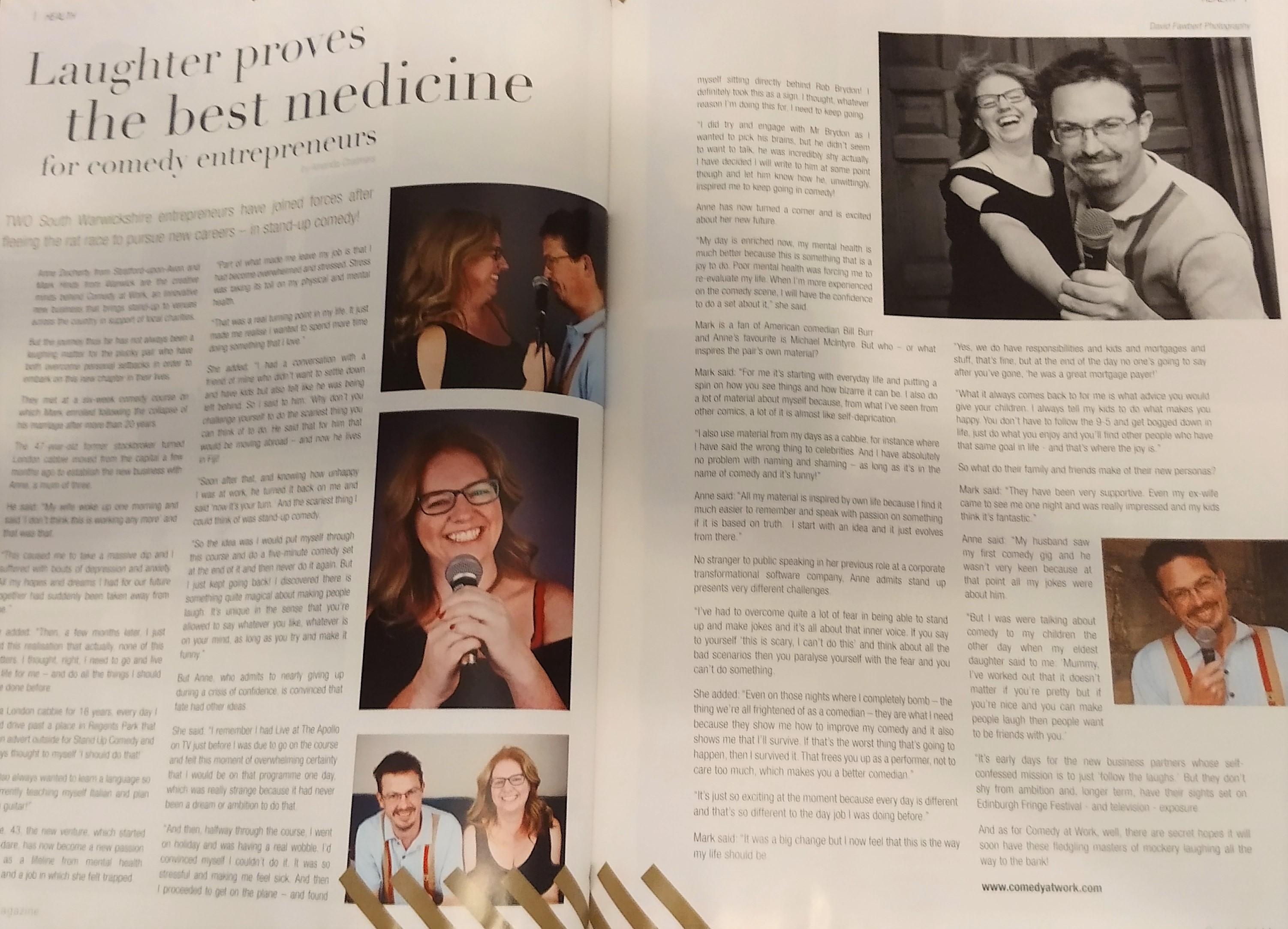 Cornfield Magazine spread