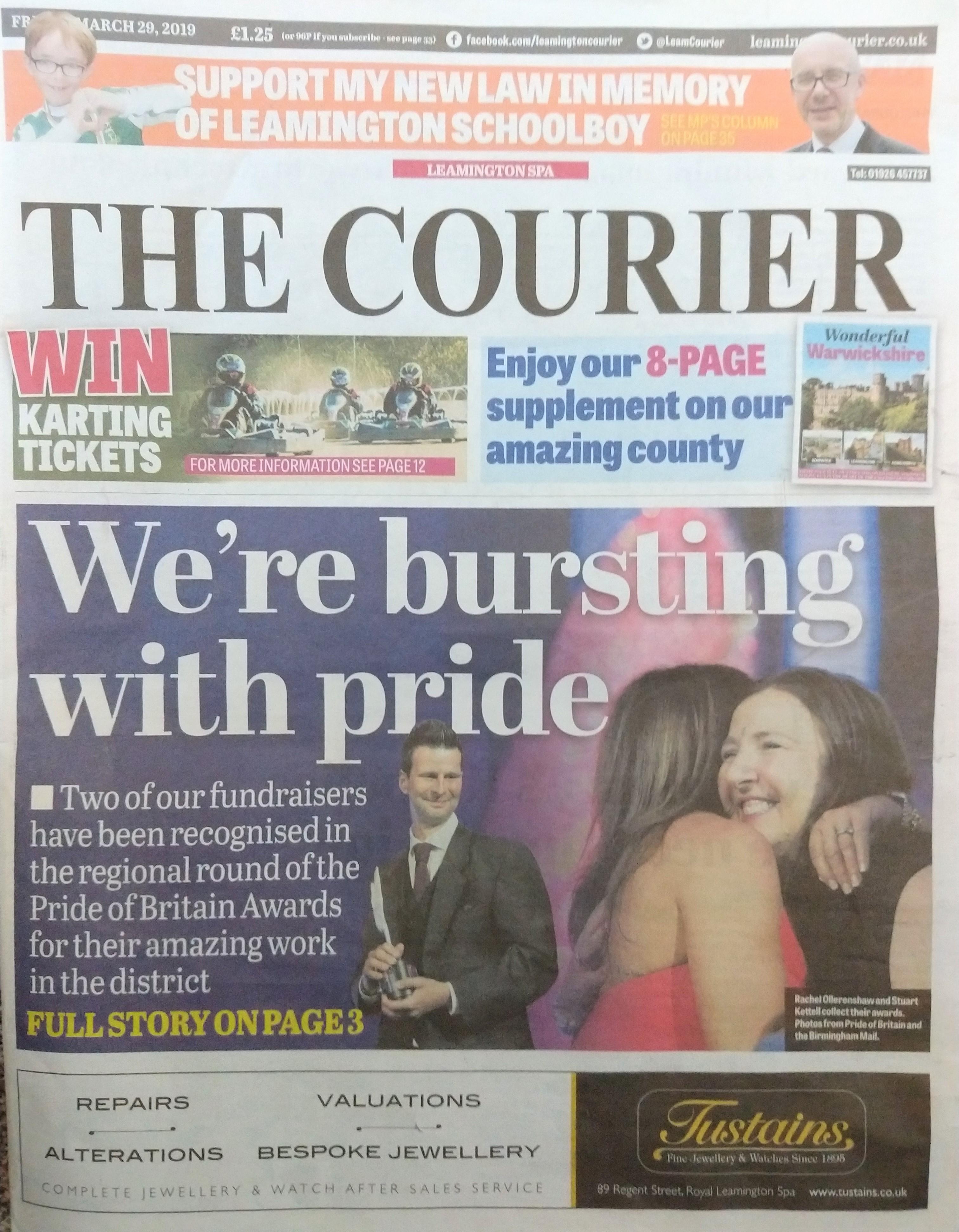 Pride of Birmingham Courier front