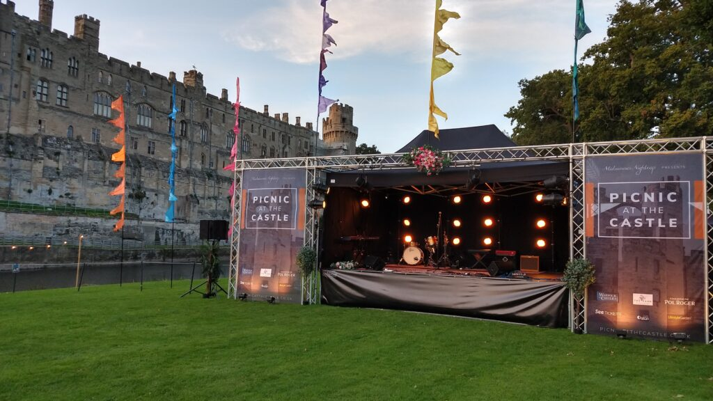 Warwick Castle, Picnic In The Park, comedy, live music