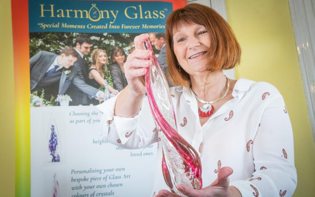 Celebrant spreads harmony with new glass ceremony