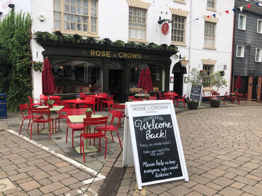 The Rose and Crown, Warwick, autumn menu