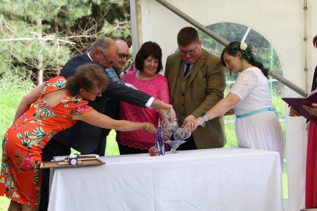 CARIAD Personal Ceremonies, Harmony Glass, Ali Fleming