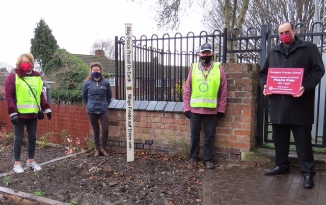 Rotary Clubs, Peace Poles, Margaret Morley