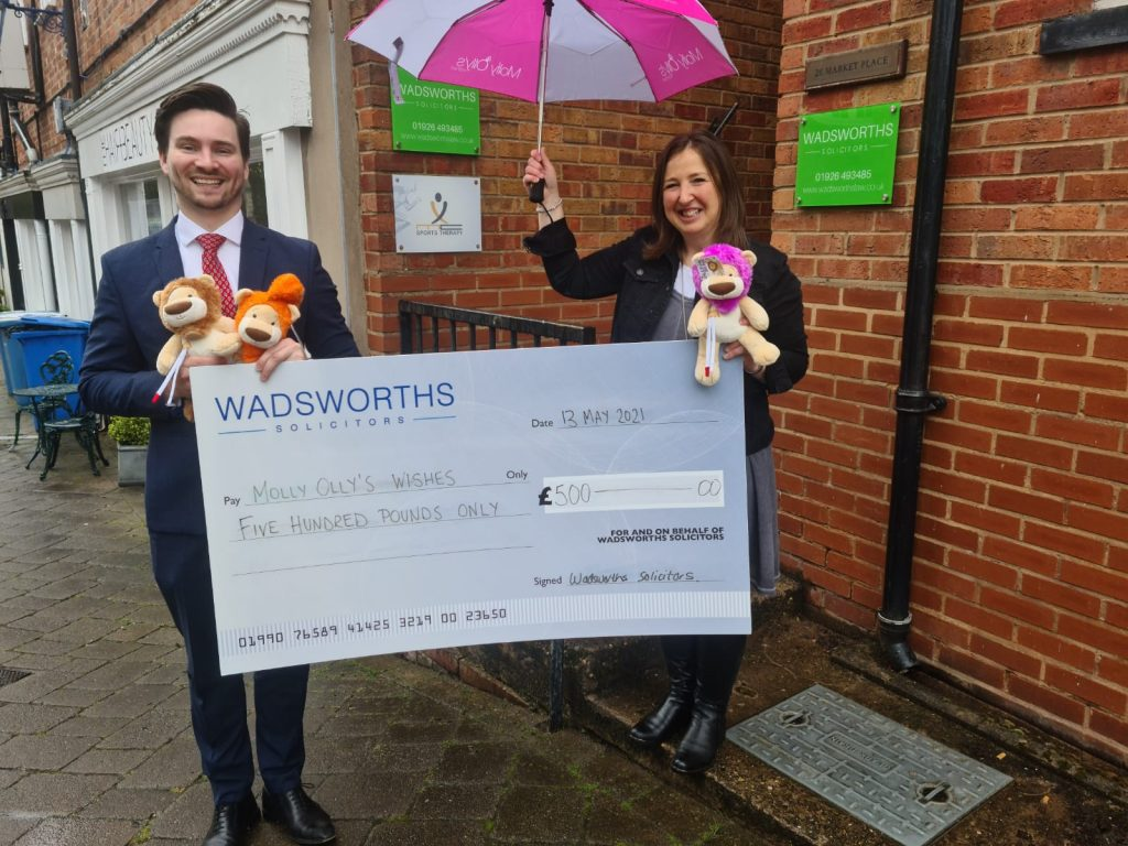 Warwick solicitors supports Warwick charity with Will proceeds