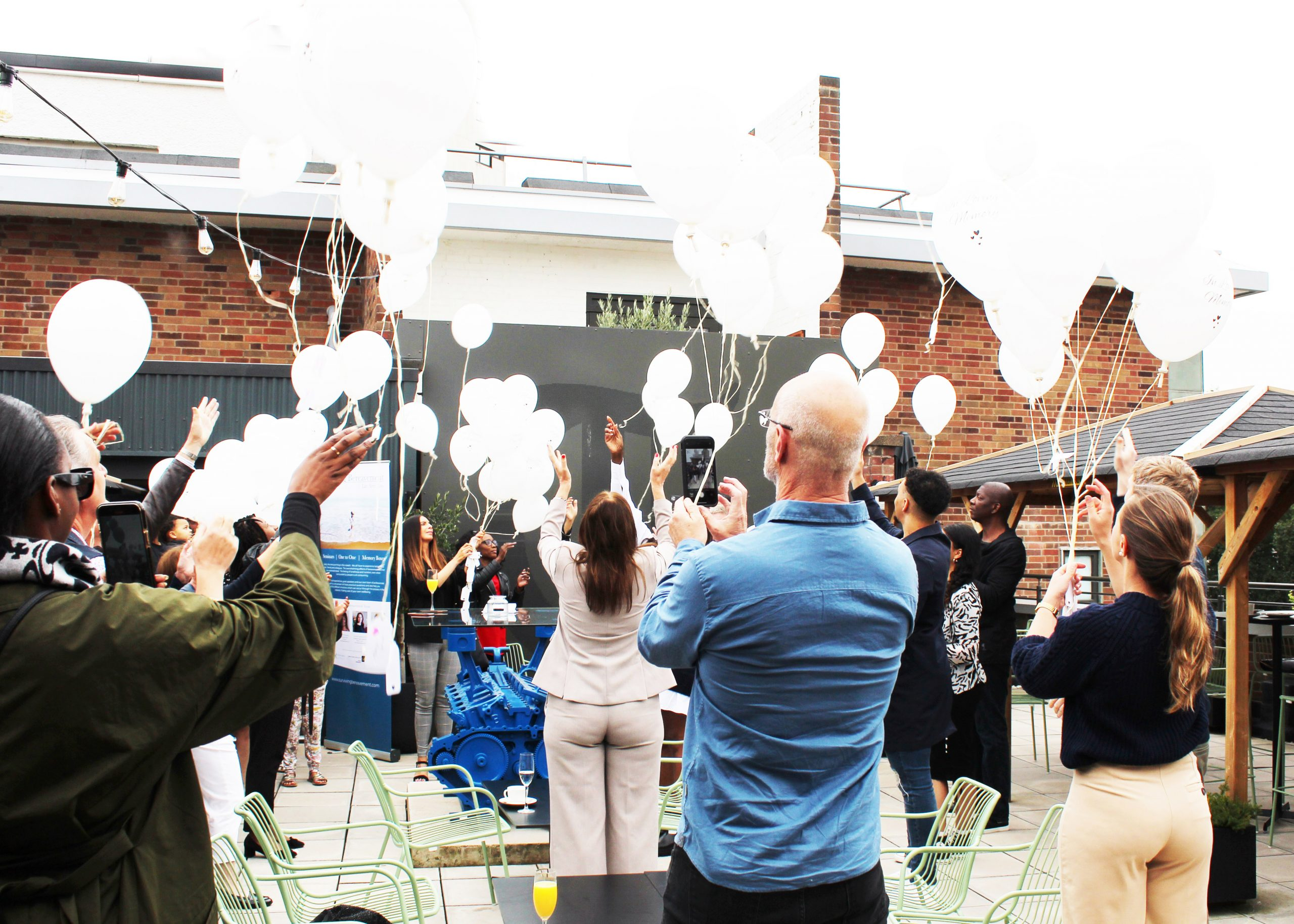 My Darling, Sandra Godley, Surviving Bereavement, Molly Olly's Wishes, Coventry & Warwickshire MIND, balloons release