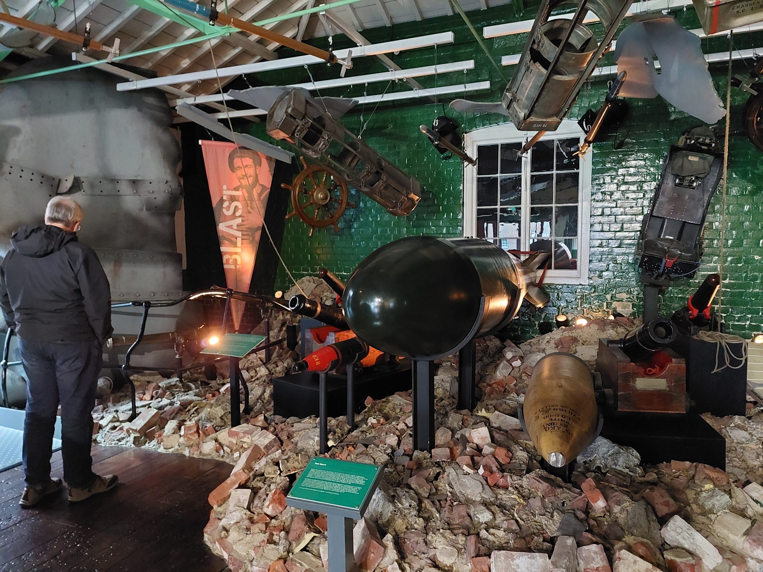 Explosions useum of Naval Firepower,Gosport,Portsmouth