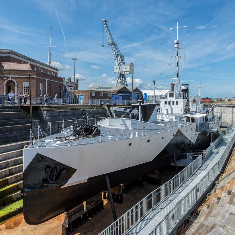 HMS M.33, Portsmouth Historic Dockyard